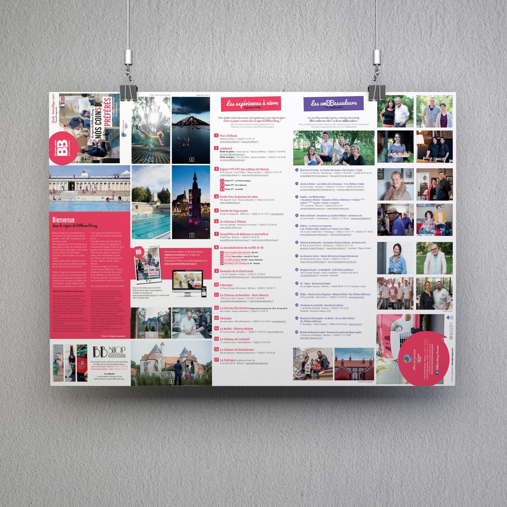 Carte touristique Béthune Bruay Tourisme 2020 - Agence GUS