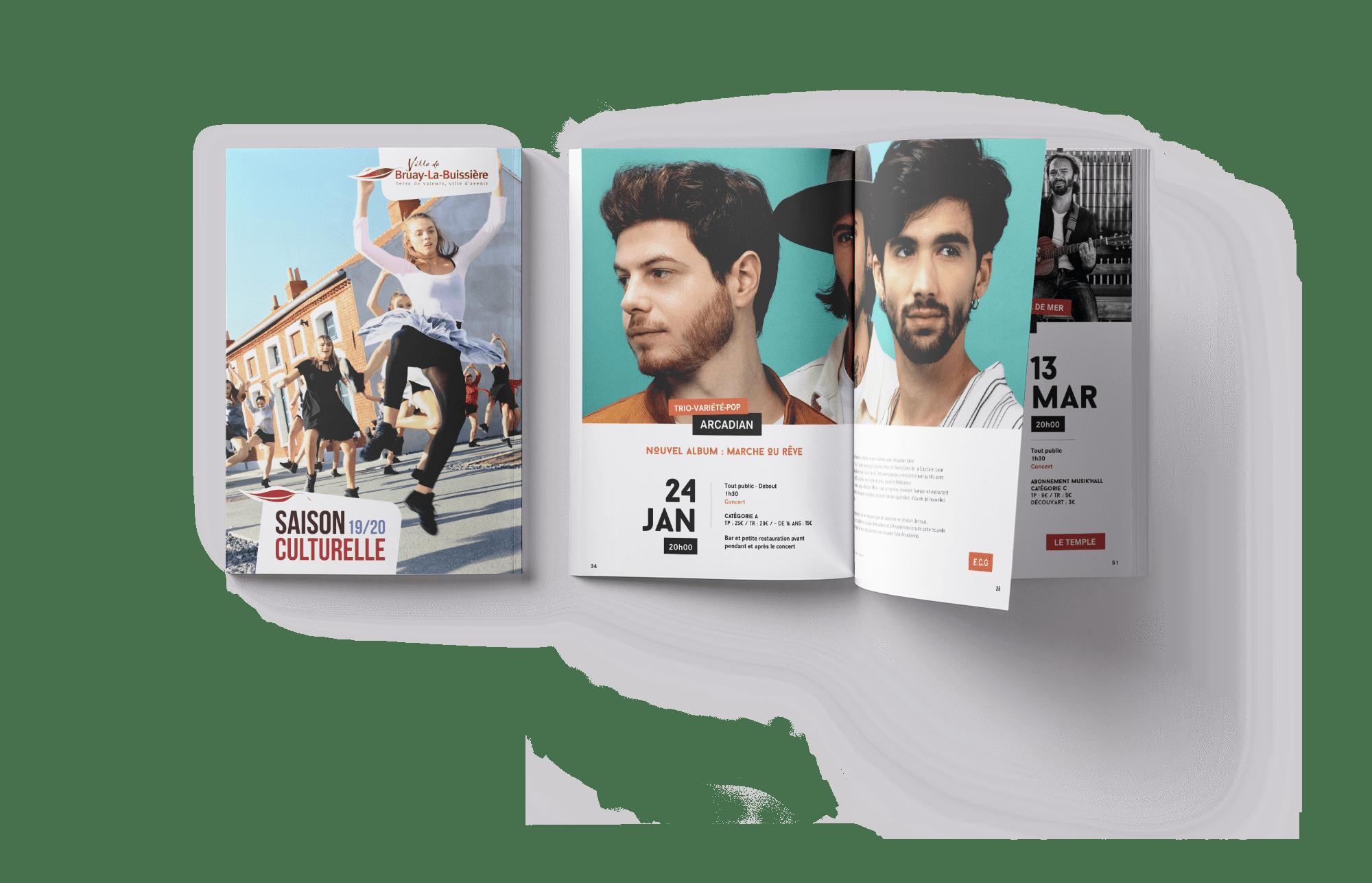 Plaquette culturelle 2019/2020 Ville de Bruay-La-Buissière - Agence GUS